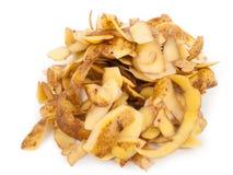 Potato peel. On white background Stock Photo