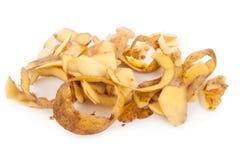 Potato peel. On white background Royalty Free Stock Photography
