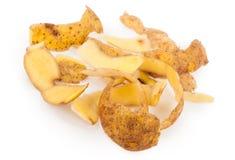 Potato peel. On white background Royalty Free Stock Image