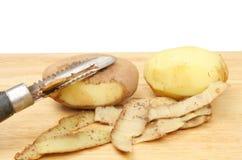 Potato peeling Stock Photography