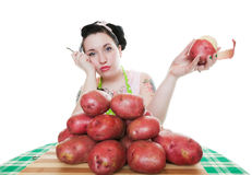 Potato Peeling Blues Royalty Free Stock Images