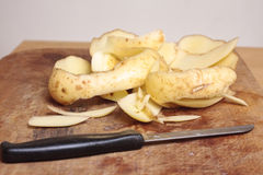 Potato peelings Royalty Free Stock Photo