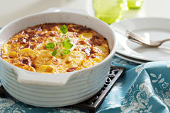Potato and pepper breakfast gratin Royalty Free Stock Images