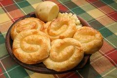 Potato pie. On a clay plate Stock Photos