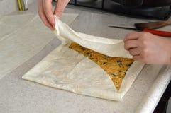Potato pie pictures. With homemade phyllo dough2 Stock Photos