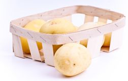 Potato pile isolated Royalty Free Stock Photography