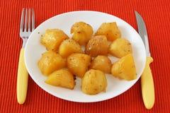 Potato on a plate Stock Photography