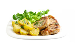 Potato and Pork Stock Images