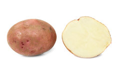 Potato and potato's half Stock Photography