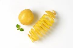 Potato and potato spiral Royalty Free Stock Image