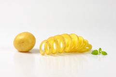 Potato and potato spiral Royalty Free Stock Images