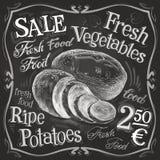 Potato, potatoes vector logo design template Stock Images