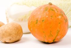 Potato and pumpkin and celery cabbage Royalty Free Stock Image