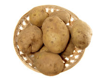 Potato in the punnet Royalty Free Stock Images