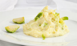 Potato puree w Flower Cabbage. Potato puree w stewed Flower Cabbage Royalty Free Stock Image