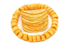 Potato Rings and Chips Royalty Free Stock Photos