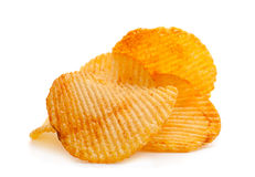 Potato ripple chips Stock Images