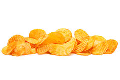 Potato ripple chips Royalty Free Stock Photo