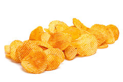 Potato ripple chips Royalty Free Stock Photography