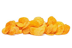 Potato ripple chips Stock Photos