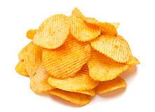 Potato ripple chips Stock Photo