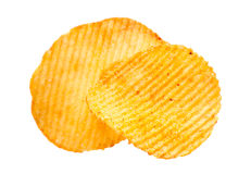 Potato ripple chips Stock Photo