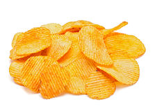 Potato ripple chips Royalty Free Stock Photos