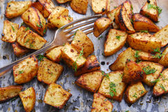 Potato roasted Stock Photography