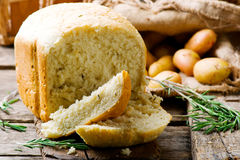 Potato and rosemary bread .style rustic Stock Photography