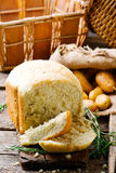 Potato and rosemary bread .style rustic Royalty Free Stock Photo