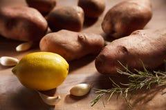 Potato with rosmary garlic and lemon Stock Photography