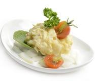 Potato Salad. On White Background stock photography