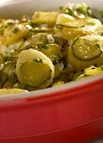 Potato salad. Close up of potato salad stock photography
