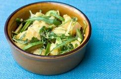 Potato salad with avocado and arugula Royalty Free Stock Photography