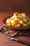 Potato salad with bacon onion mustard Royalty Free Stock Image