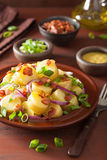Potato salad with bacon onion mustard Royalty Free Stock Photography