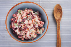 Potato Salad with Beets Stock Photography