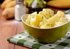 Potato salad in the bowl Royalty Free Stock Photo