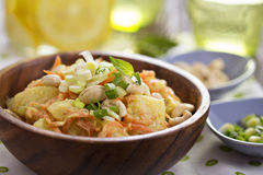 Potato salad with carrot and celery Stock Photo