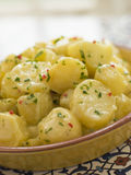 Potato Salad with Chili Coriander and Allioli Stock Images