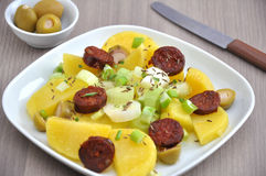 Potato Salad with Chorizo Royalty Free Stock Image
