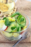 Potato salad with cucumber and radish Stock Image