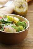 Potato salad with cucumber and radish Royalty Free Stock Photos