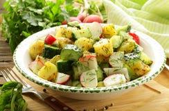Potato salad with cucumber Royalty Free Stock Image