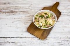 Potato salad. With egg and mayonnaise sauce stock image