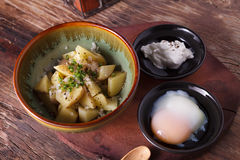 Potato salad with egg Stock Photos