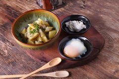 Potato salad with egg Royalty Free Stock Photography