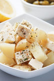 Potato salad with feta cheese Stock Images