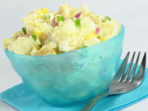 Potato Salad and Fork Royalty Free Stock Image