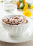 Potato salad made with  boiled baby potatoes Stock Image